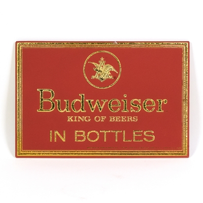 Budweiser Beer Reverse Painted Glass Sign