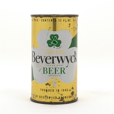 Beverwyck Beer Flat Top Beer Can