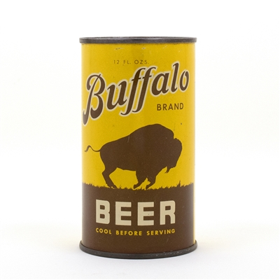 Buffalo Beer Opening Instruction Flat Top Beer Can
